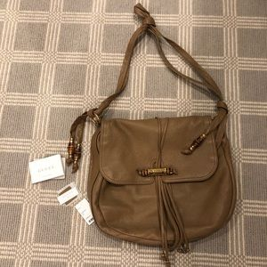Gucci Knot Shoulder Bag With Bamboo Detail Brown